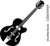 guitar silhouette | Shutterstock .eps vector #130645469