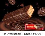 milk chocolate flavor with... | Shutterstock .eps vector #1306454707