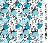 seamless pattern business... | Shutterstock .eps vector #1306456291