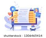 blogger  blog content  blogging ...   Shutterstock .eps vector #1306465414