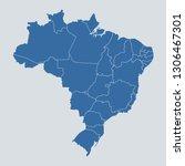 brazil map on gray background... | Shutterstock .eps vector #1306467301