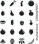 solid black vector icon set  ...   Shutterstock .eps vector #1306469857