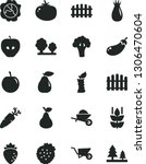 solid black vector icon set  ... | Shutterstock .eps vector #1306470604