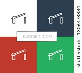 barrier icon white background.... | Shutterstock .eps vector #1306478884