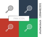 pan icon white background.... | Shutterstock .eps vector #1306482331