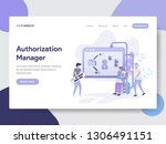 landing page template of... | Shutterstock .eps vector #1306491151