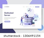 landing page template of... | Shutterstock .eps vector #1306491154