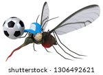 mosquito   3d illustration | Shutterstock . vector #1306492621
