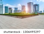empty square floor tiles and... | Shutterstock . vector #1306495297