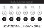 emergency icons set. collection ... | Shutterstock .eps vector #1306497061