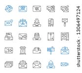 receive icons set. collection... | Shutterstock .eps vector #1306497124