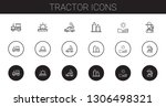 tractor icons set. collection... | Shutterstock .eps vector #1306498321