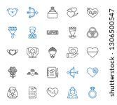 marriage icons set. collection... | Shutterstock .eps vector #1306500547