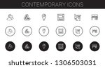 contemporary icons set....