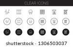 clear icons set. collection of... | Shutterstock .eps vector #1306503037