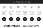 happiness icons set. collection ... | Shutterstock .eps vector #1306503091