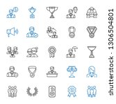 leader icons set. collection of ... | Shutterstock .eps vector #1306504801