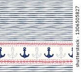hand drawn horizontal border... | Shutterstock .eps vector #1306505827