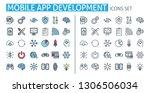 mobile app development icons...