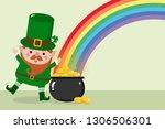 happy st. patrick's day... | Shutterstock .eps vector #1306506301