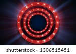 shining retro billboard.... | Shutterstock .eps vector #1306515451
