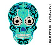 holy death  day of the dead ... | Shutterstock .eps vector #1306521604