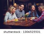 beautiful happy friends...   Shutterstock . vector #1306525531