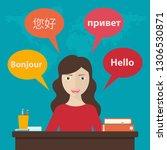 synchronic translation services ... | Shutterstock .eps vector #1306530871