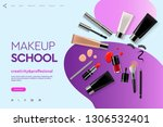 web page design template for... | Shutterstock .eps vector #1306532401
