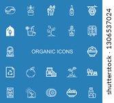 editable 22 organic icons for... | Shutterstock .eps vector #1306537024