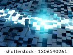 glowing black and blue abstract ...   Shutterstock . vector #1306540261