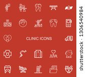 editable 22 clinic icons for... | Shutterstock .eps vector #1306540984