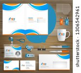 corporate business identity... | Shutterstock .eps vector #1306542961