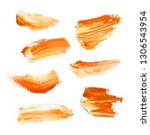 hand painted elements for... | Shutterstock . vector #1306543954