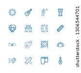 editable 16 acoustic icons for... | Shutterstock .eps vector #1306544701