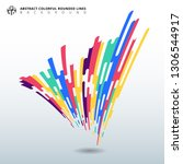 abstract distorted elements... | Shutterstock .eps vector #1306544917