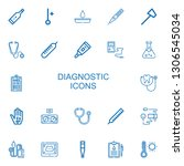editable 22 diagnostic icons... | Shutterstock .eps vector #1306545034