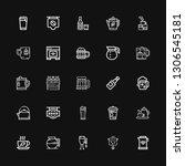 editable 25 kettle icons for... | Shutterstock .eps vector #1306545181