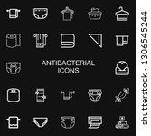 editable 22 antibacterial icons ... | Shutterstock .eps vector #1306545244