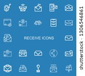 editable 22 receive icons for... | Shutterstock .eps vector #1306546861
