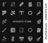 editable 22 acoustic icons for... | Shutterstock .eps vector #1306551124