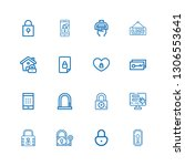 editable 16 keyhole icons for... | Shutterstock .eps vector #1306553641