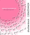 delicate pink background from...   Shutterstock .eps vector #1306554424