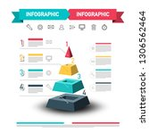infographic design with pyramid ... | Shutterstock .eps vector #1306562464