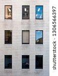 a vertical shot of an office... | Shutterstock . vector #1306566397