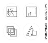 4 line mirror horizontally ... | Shutterstock .eps vector #1306573291