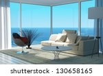 a 3d rendering of sunny living... | Shutterstock . vector #130658165