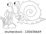 illustration of a snail on a... | Shutterstock . vector #130658669