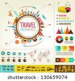 travel infographics with data... | Shutterstock .eps vector #130659074
