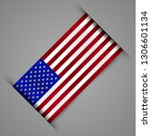flag of united states of... | Shutterstock .eps vector #1306601134